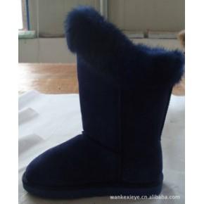 生产 批发 各种款式和材质狐狸毛 雪地靴