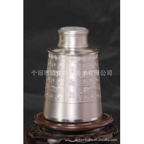 【优质】工艺品 中国斑锡金编钟茶筒