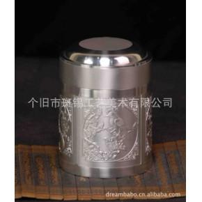 【优质】工艺品 中国斑锡鸟语花香茶筒A款