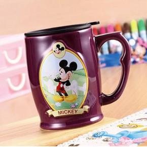 迪士尼大肚杯 4款任选 创意杯子 马克杯 陶瓷杯 支持混批