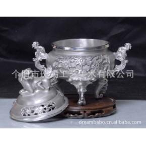 【优质】云南特色商务礼品 中国斑锡狮鼎香炉