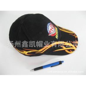 棒球帽,运动帽,供应全棉火焰重绣花成人休闲运动帽