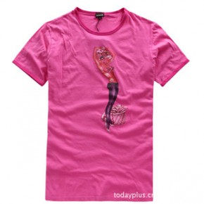 AHAUS 2011夏装新款 男装时尚圆领短袖T恤 3543
