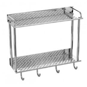 组合不锈钢带钩、带杆置物架、浴巾架
