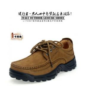 男士休闲皮鞋 户外休闲男鞋 头层牛皮 品牌 供货