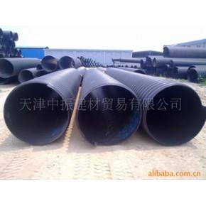 天津联塑PE螺旋波纹管 广东联塑牌钢带增强PE螺旋波纹管、PE管