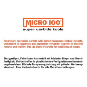 美国MICRO 100 模具用端铣刀