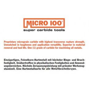 美国 MICRO 100  HSC高速加工的热缩柄立铣刀