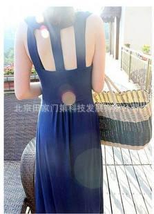 2011新品 韩版背后镂空连衣裙高清图片