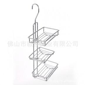 毅佳铁线镀铬三层实用浴室厨房置物架