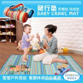 Bobkids 婴儿爬行垫 游戏垫 游戏毯 野餐垫 双层防水防污