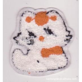 电脑绣花毛巾绣小猫刺绣布贴