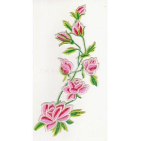 现货批发电脑绣花舞台装饰大花成条花刺绣布贴