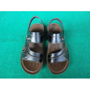 2011新款夏季男士凉鞋/男士真皮沙滩鞋/男式休闲凉鞋/货号806