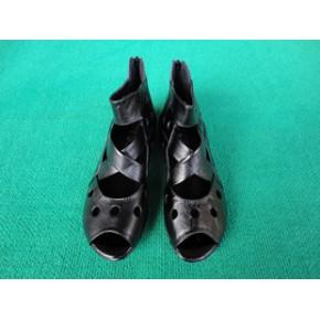 2011夏季新款女式平底罗马凉鞋/女式软底真皮凉鞋/货号522
