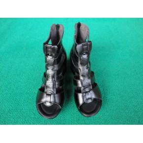 2011夏季新款女式坡跟底罗马凉鞋/女式真皮凉鞋/货号8157