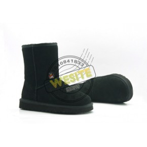 批发 男士雪地靴 黑色 5854 保暖靴