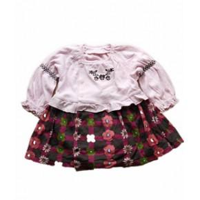 日韩童装 外贸童装 原单长袖连身衣 combimini 开身上衣