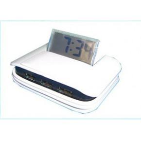 混批带时钟的电脑多扩充接口-苹果派PGP809 USB时计 USB电子时钟