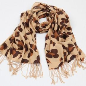 新款上市,春秋季节爆款100%纯羊毛围巾披肩 H-055