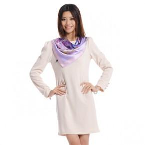 、时尚大方、真丝丝巾S-043