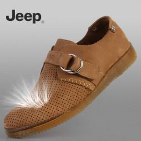 2011新款 户外鞋 吉普/JEEP男鞋 休闲皮凉鞋 透气休闲鞋 透明底
