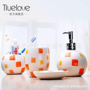 几何形状陶瓷卫浴套装 球形卫浴四件套 肥皂盒 牙刷架 4款随机