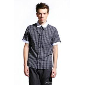 RAJA 2011都市英伦绅士衬衣 男式欧美版修身短袖衬衫