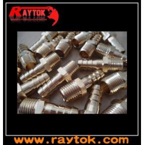 """黄铜材质 鼠尾大小:1/4"""",3/8""""螺纹为1/4NPT气管接头气动接头"""