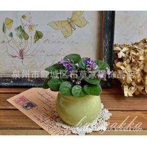 BAO ZAKKA 陶瓷 缸形 小花盆 多肉植物盆 豆绿色