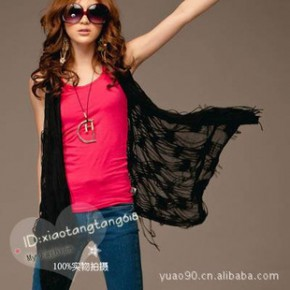 Y2665外贸时尚女式衬衫 菱形摆剪破背心罩衫 一件代发