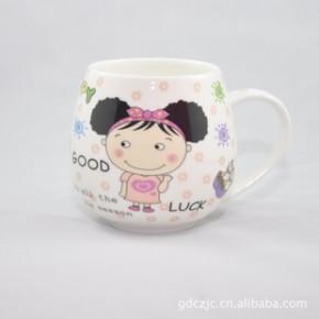 【热销】创意陶瓷杯 骨瓷杯 大肚杯8款 礼品杯 印制LOGO