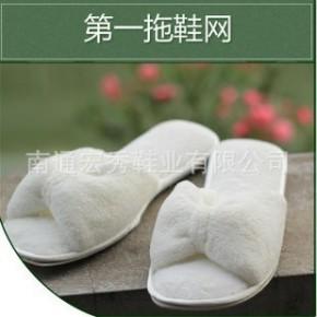 英伦浪漫 全棉柔软 舒适家居地板拖鞋 居家拖鞋 女拖鞋 棉拖