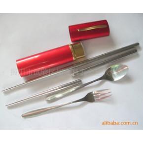 不锈钢餐具三件套 广告促销品 环保餐具套装 匙子 筷子 叉三件套