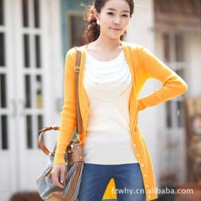新款秋装 秋冬女装 女式针织衫开衫 针织外套批发642