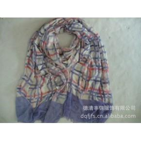 2011年德清丰锦新款格子印花长巾 new scarf