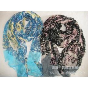2011年德清丰锦新款人棉印花长巾 new scarf