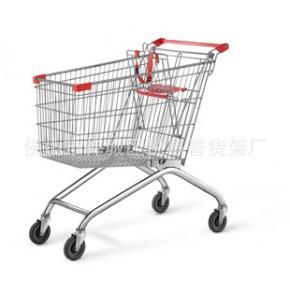 美式购物车,超市电镀手推车,不可折叠购物车,购物车