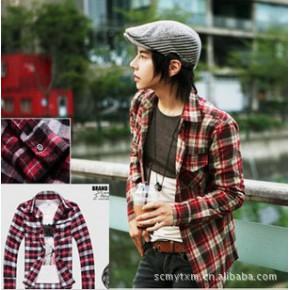 特价 批发2011时尚休闲衬衫 双边口袋条绒磨毛长袖男士衬衫c016