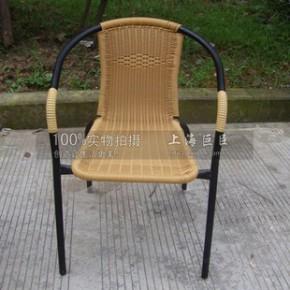 铁管藤椅 塑料仿藤椅 茶吧椅 咖啡厅椅 扶手椅 休闲椅