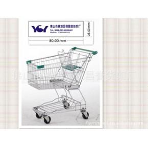 线脚购物车,美式购物车,不可折叠购物车,超市购物车,货架