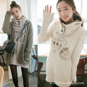 2011春装新款 卫衣 女装 韩版可拆卸连帽外套 细节