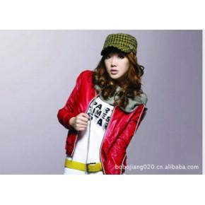 新款唐狮女装夹克式PU皮衣110321052110 送79围巾