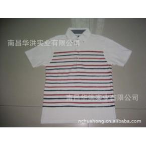 男式印条翻领T恤衫,出口日本
