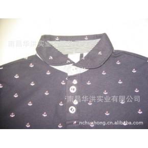男式印点翻领T恤衫,出口日本