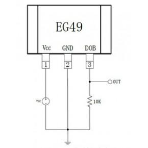 EG49 调速转把线性霍尔集成电路 芯片