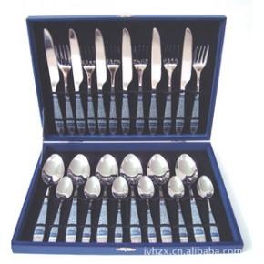 不锈钢青花瓷贴花手柄(08吉祥花)餐具套装供应