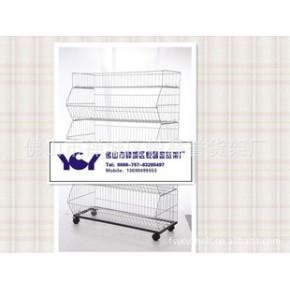 超市斜口篮,电镀可拆装斜口篮,超市展示架,促销架,网架
