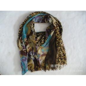 2011年德清丰锦服饰新款三层印花长巾 new scarf