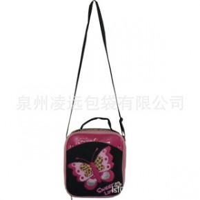 生产批发包包,新款豹纹蝴蝶贴钻斜跨、手提餐包、手袋加工